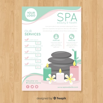 Spa flyer template