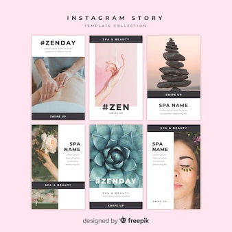 Spa instagram stories template set