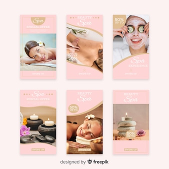Spa instagram stories template