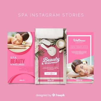 Spa instagram stories template