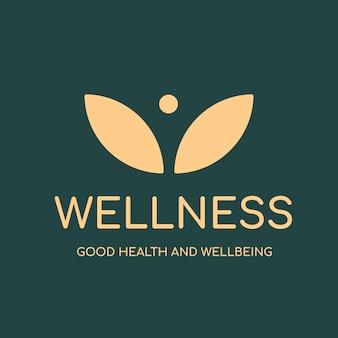 Spa logo template, health & wellness business branding design vector, wellness text