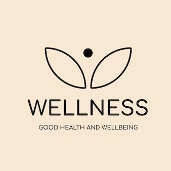 Modello logo spa, vettore di design del marchio aziendale salute e benessere, testo benessere