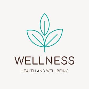 スパのロゴテンプレート、健康とウェルネスビジネスブランディングデザインベクトル、ウェルネステキスト