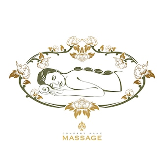 Spa massage logo