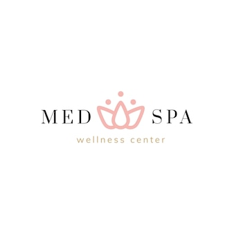 Spa a nd wellness center logo vector