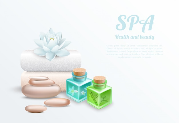 Spa realistic gentle design concept