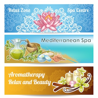 Spa salon banner set
