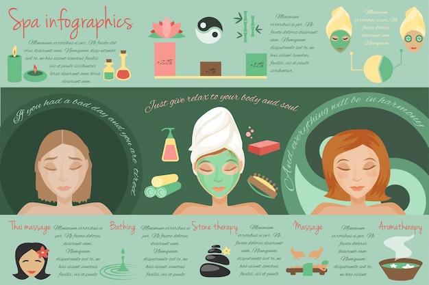 Spa salon thai massage bathing stone therapy isolated vector illustration
