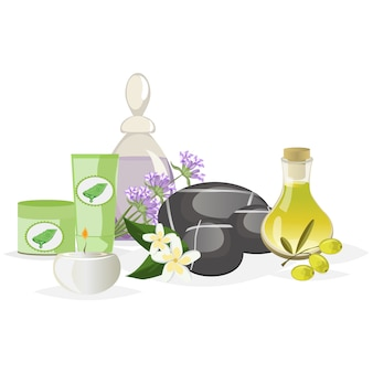 Spa still life icons