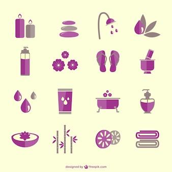 Icone di terapia termale vettoriali