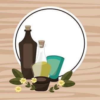 Spa therapy lotion oil body cream poster