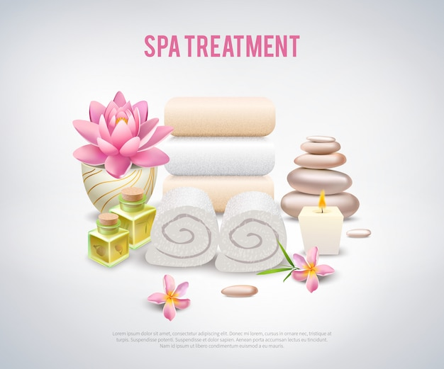 Spa treatment white poster