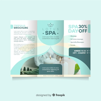 Spa trifold flyer template