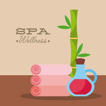 Spa utensils illustration