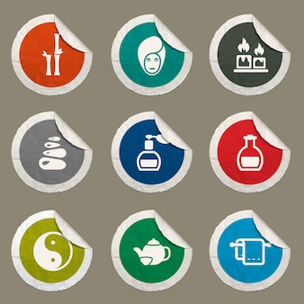 Spa vector icons for web sites and user interface