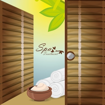 Spa with message product and towels