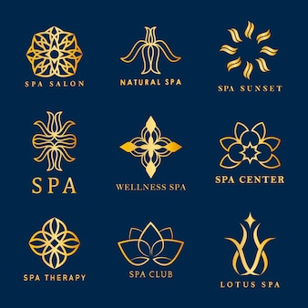 Набор векторов логотипа spa