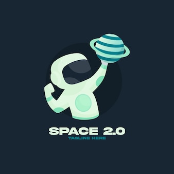 Шаблон дизайна логотипа space 2.0