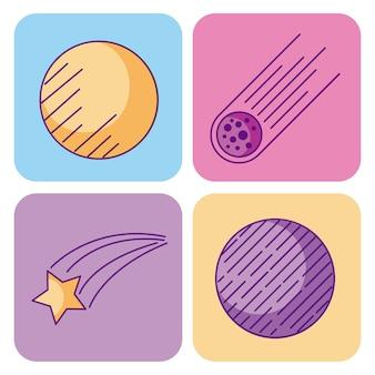 우주와 천문학 과학 우주 요소 집합