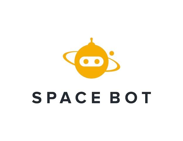 공간과 로봇 단순하고 세련된 창조적 인 기하학적 현대 로고 디자인
