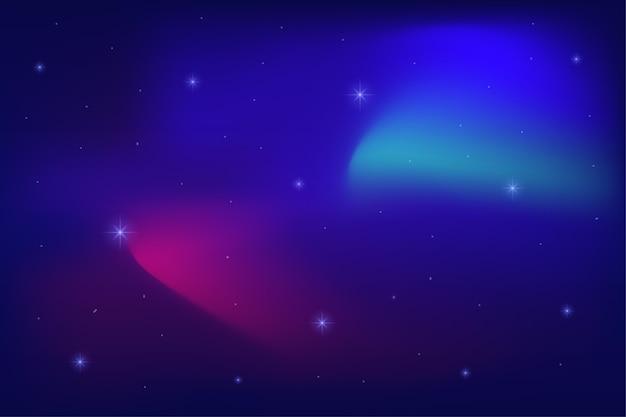 スペースの背景。抽象的な星の光の壁紙