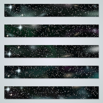 Space background banners  templates collection