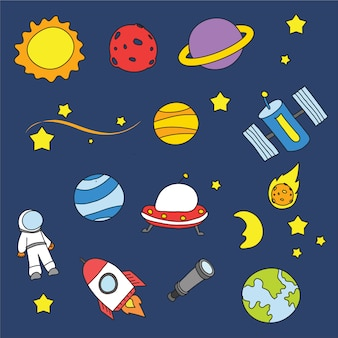 Space background design Free Vector