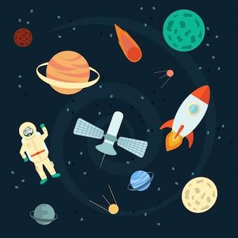宇宙背景デザイン