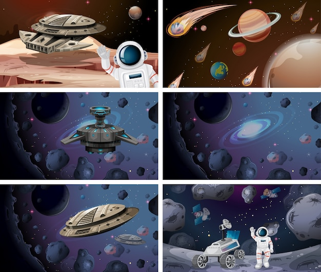 Space background scene or background set