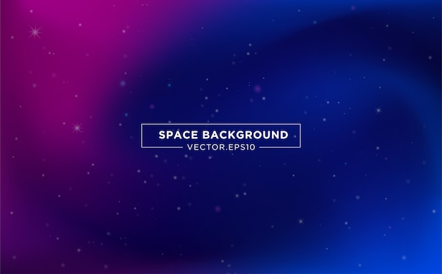 Space background template design with abstract starlight