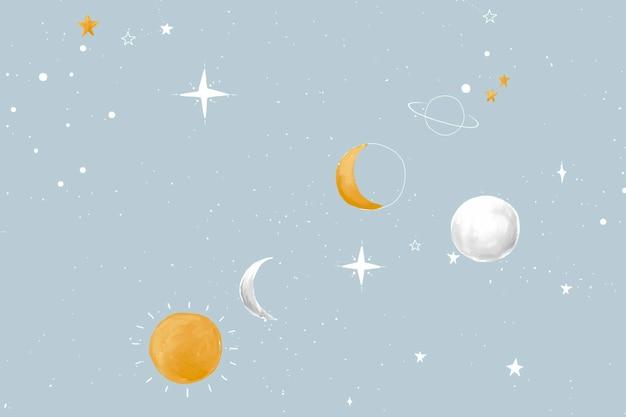 Vettore di sfondo dello spazio, sfondo del desktop della galassia