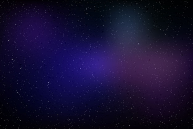 Space background with glowing stars