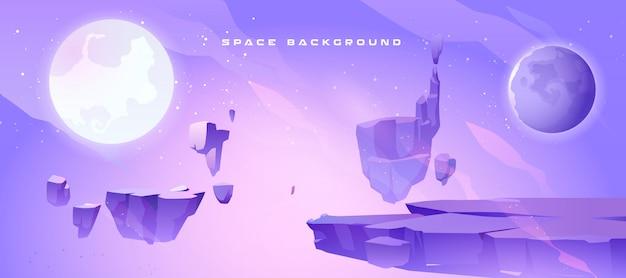 외계 행성의 풍경과 공간 배경