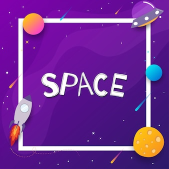 Space background with place for text.