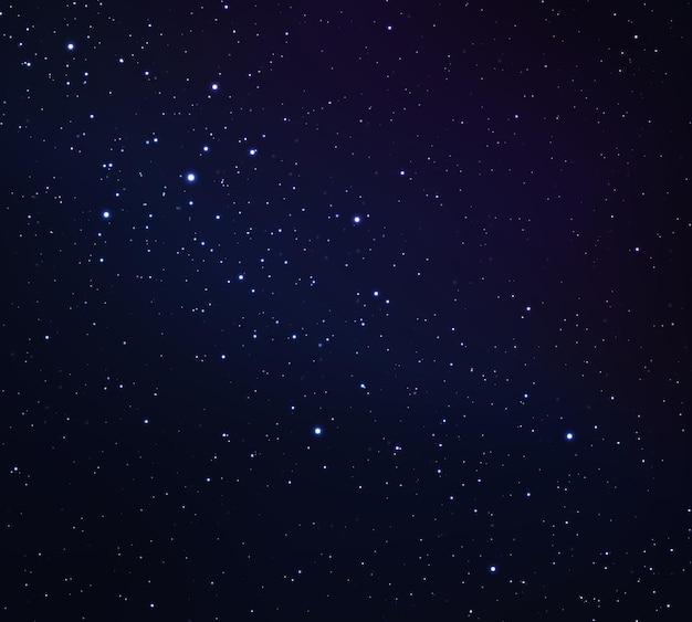 Космический фон с сияющими звездами звездная ночь с блестящими звездами в градиентном небе