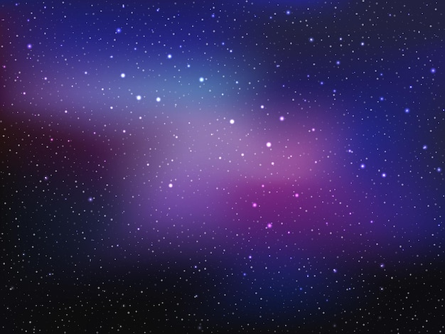 Space background with stars and patches of light.