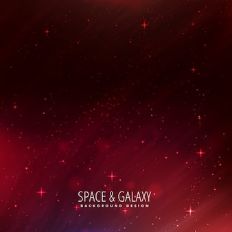 Space background with stars in red color