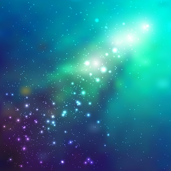 Space  background with stars. universe illustration. colored cosmos backdrop with stars claster.