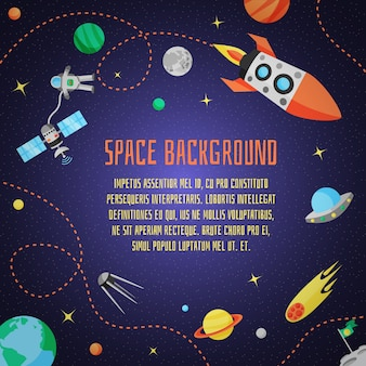 Space cartoon background