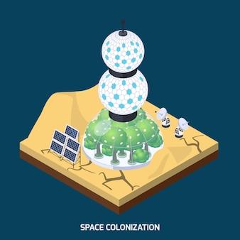 Space colonization modules composition