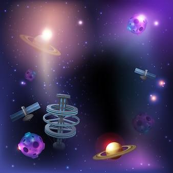 Space dark background Free Vector