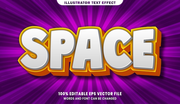 Space  editable text style effect