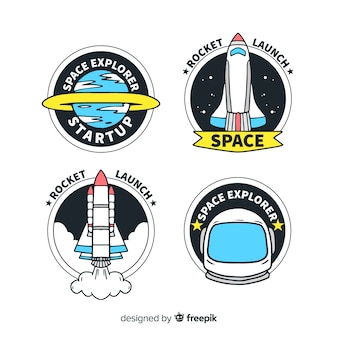 Space elements stickers