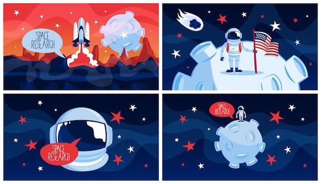 Исследование космоса и путешествия в галактике концепции.