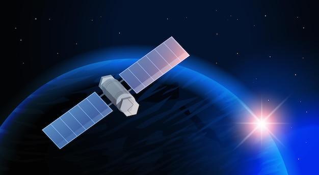Космические исследования космонавтики технологии, спутник наблюдения летающий орбитальный космический полет вокруг земли космический корабль в космосе