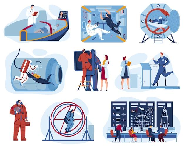 Space exploration center for astronaut training set