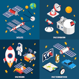 Space exploration isometric