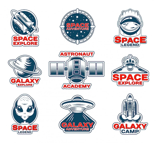Space exploration patches set