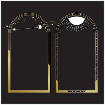 우주 탐험 우주 배경 템플릿 fortuna gold colors
