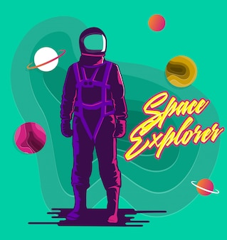 The space explorer astronaut